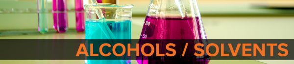 Alcohols / Solvents Banner